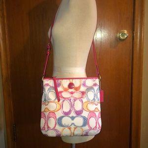 Coach Scribble C's crossbody handbag multi color